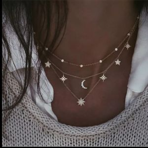🆕Stars, moon and sun tier necklace